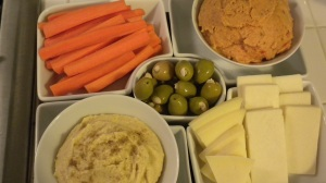 Hummus, nibbles and bits, and muffins 008